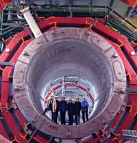 Detector Magnet for one of the LHC experiments